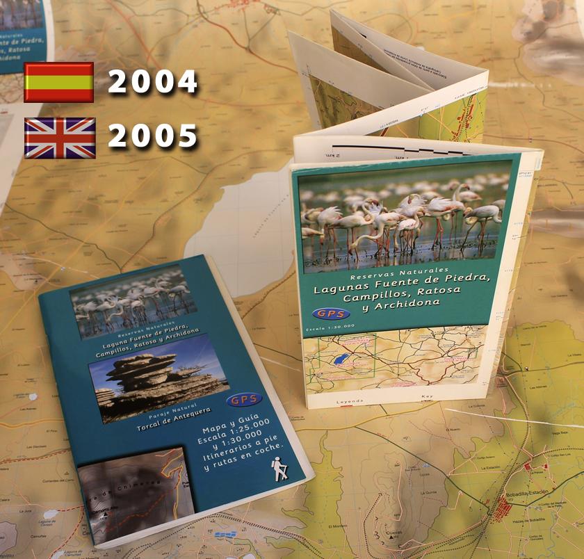 antiguo mapa y guia de Laguna Fuente de Piedra, antiguo mapa y guía Lagunas de Campillos, antiguo mapa y guía Laguna de la ratona, antiguo mapa y guía Lagunas de Archidona, antiguo mapa y guía Lagunas de Campillos