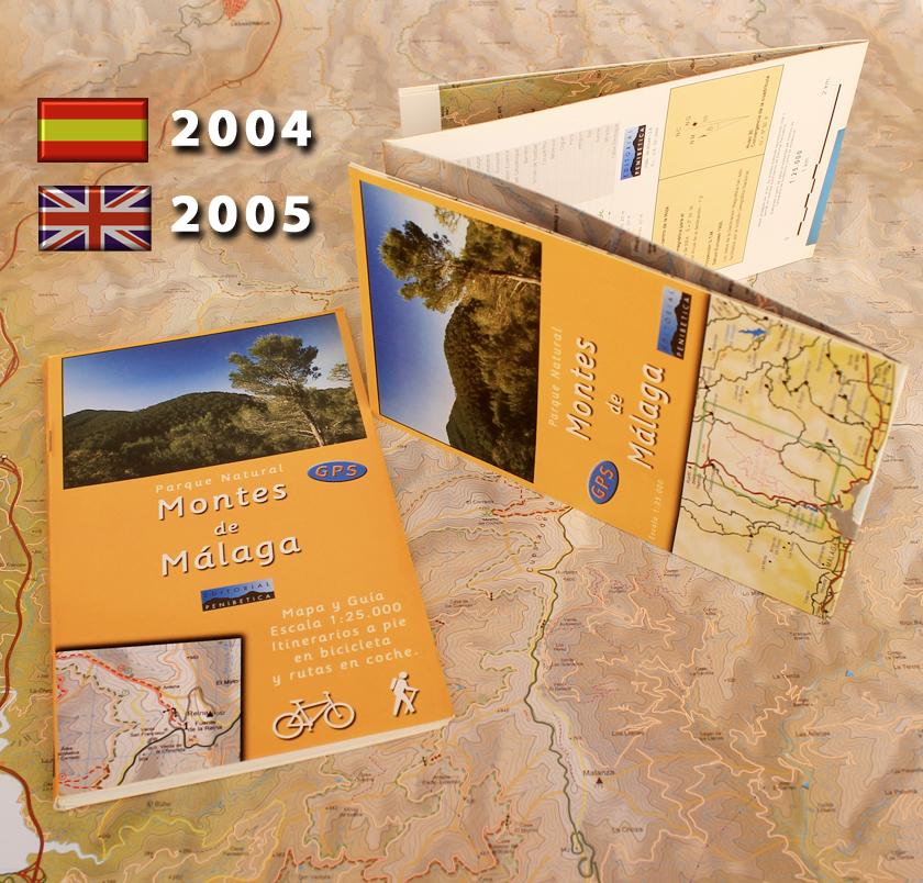 antiguo mapa guia Montes de Málaga