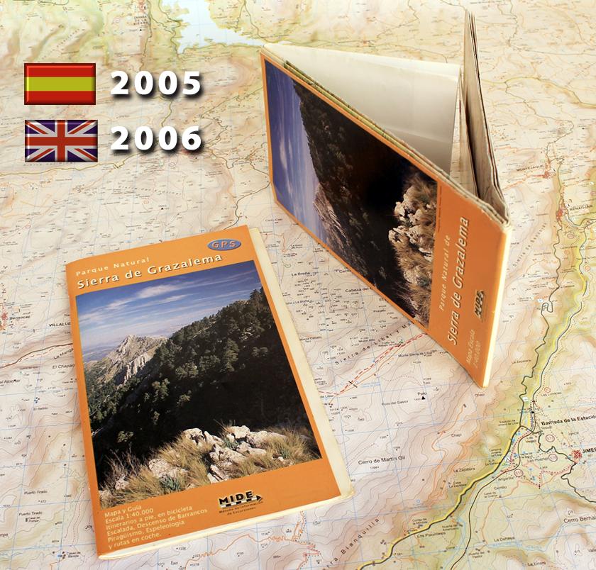 antiguo mapa y guia de Sierra de Grazalema