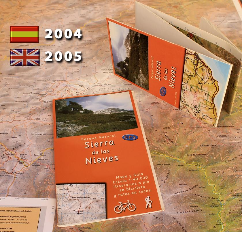 antiguo mapa y guia de la Sierra de las Nieves