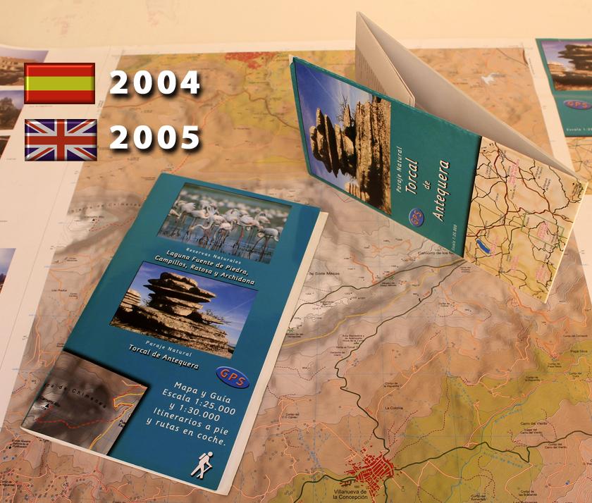 antiguo mapa y guía del Torcal de Anquequera