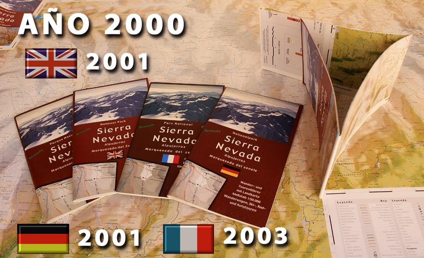 antiguos mapas-guias de Sierra Nevada