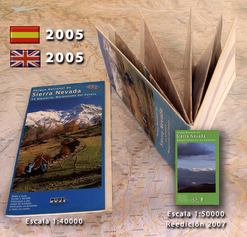 mapas antiguos de la colección de Sierra Nevada