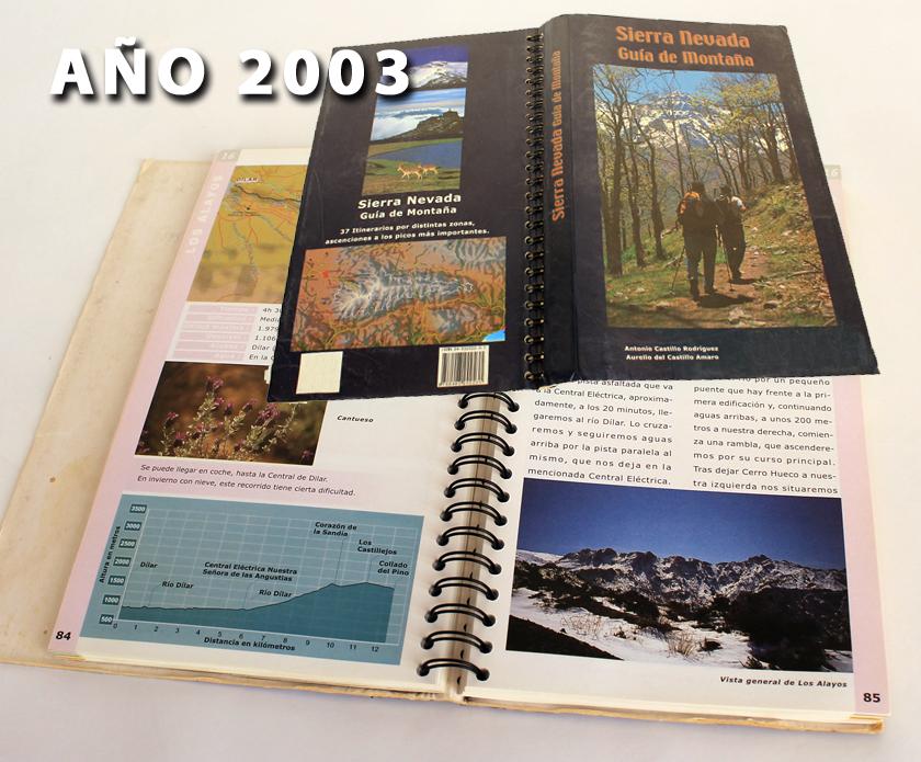 antigua guia de senderismo por Sierra Nevada