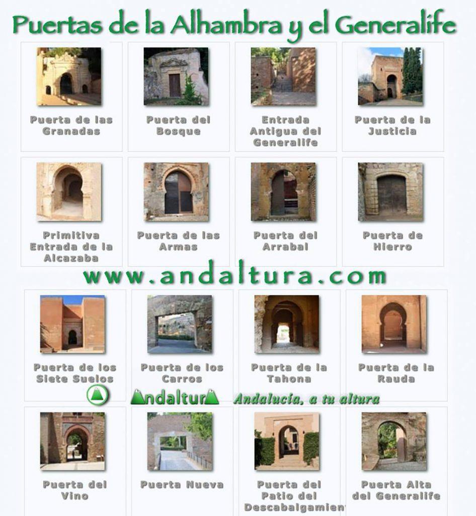 La información más actual sobre las Puertas de la Alhambra