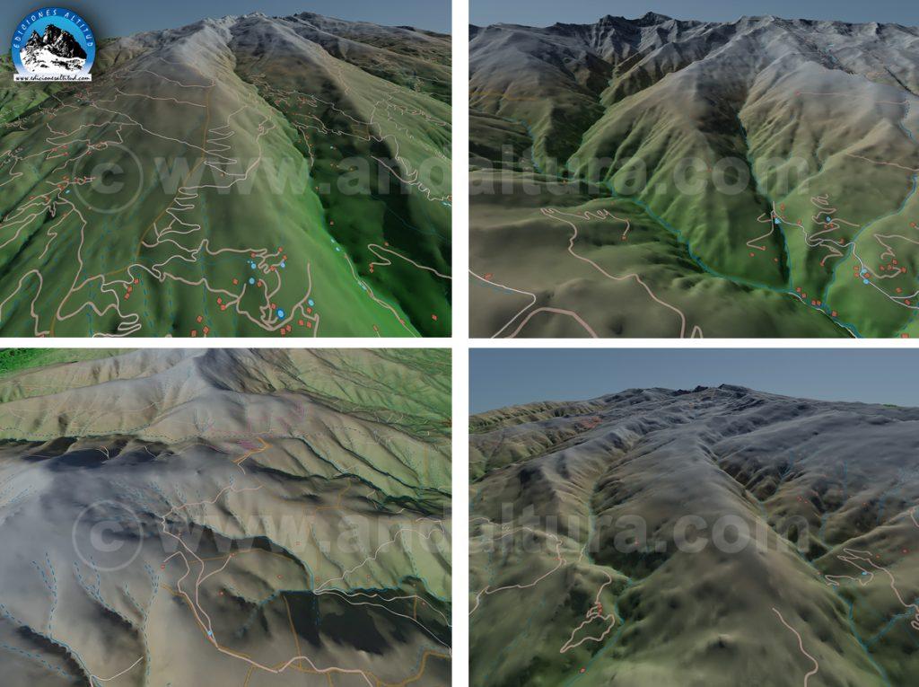 Imágenes virtuales reales sobre Sierra Nevada Andalucía -