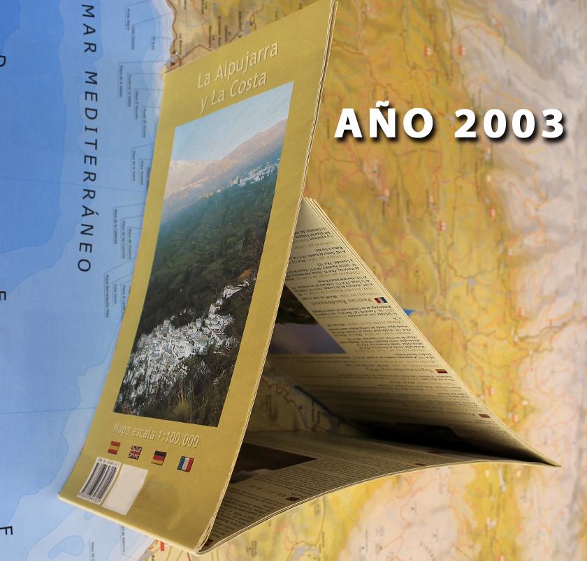 antigua mapa y guía de la Alpujarra