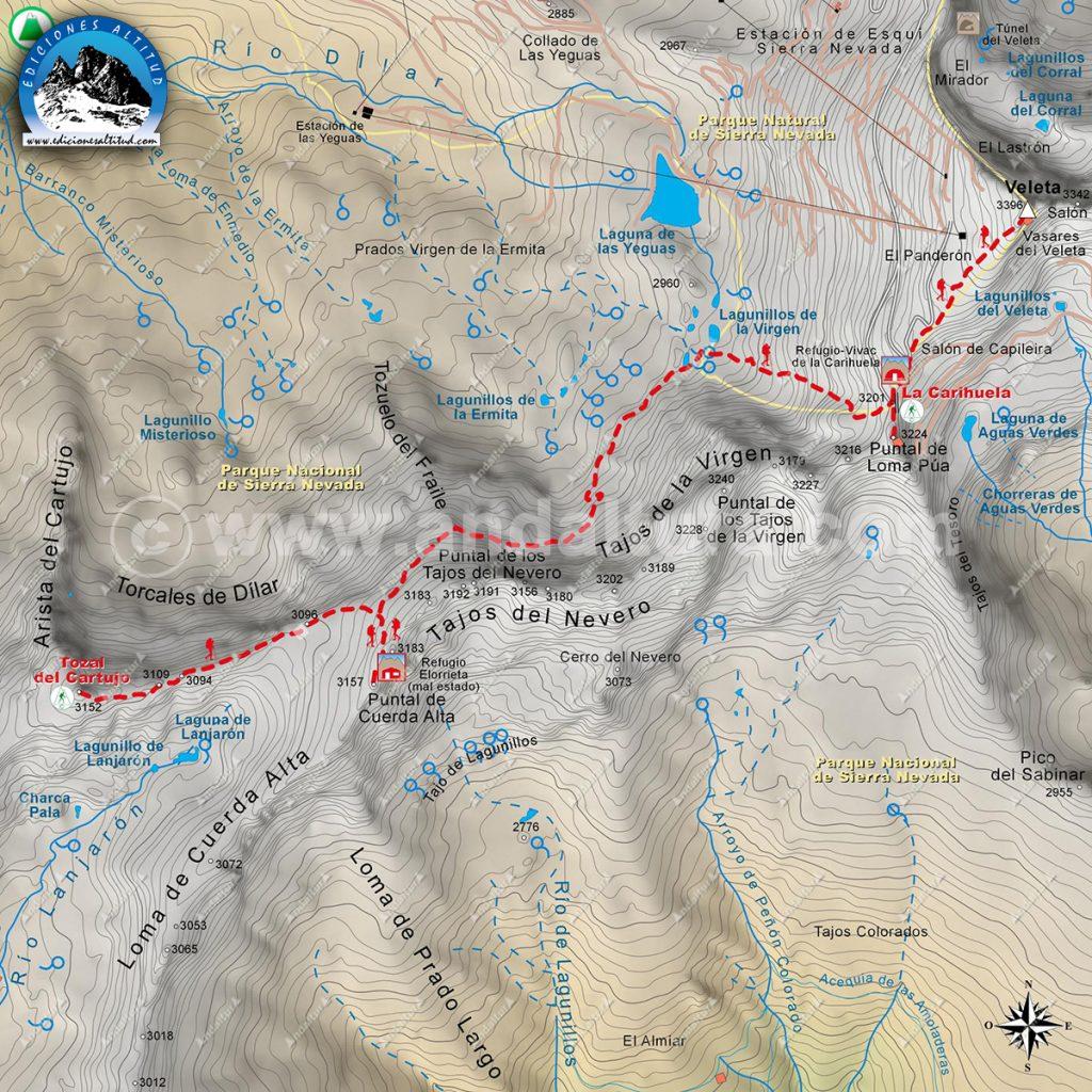 Mapa Cartográfico Gratuito de Sierra Nevada