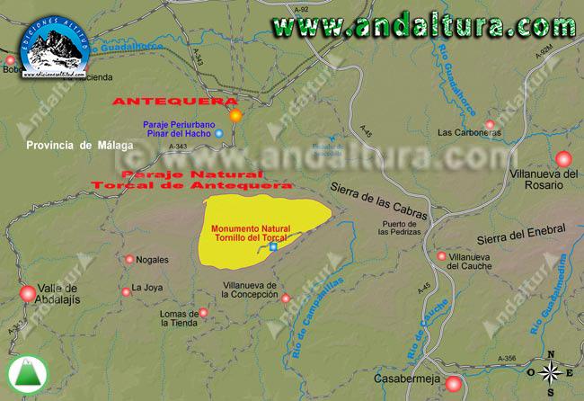 Como llegar a Antequera y el Torcal