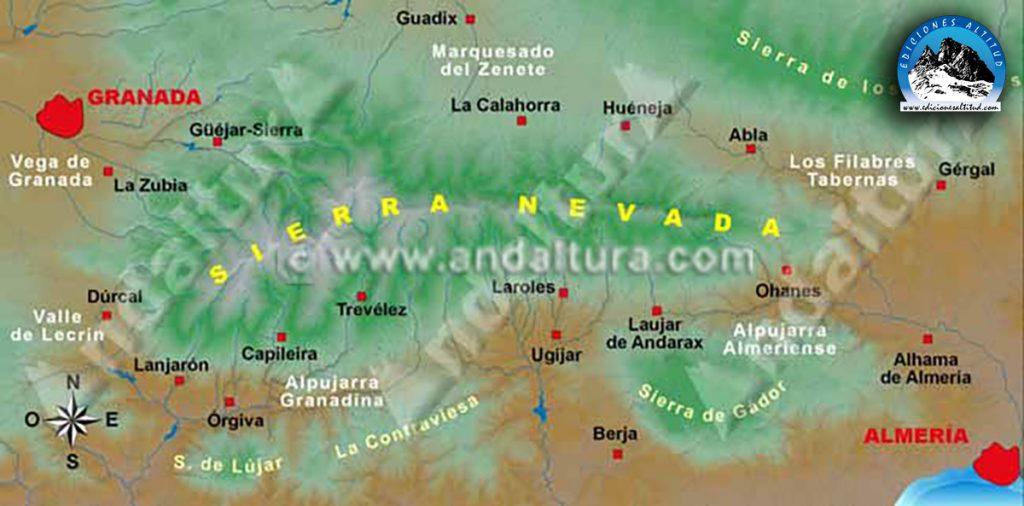 Mapa de Sierra Nevada