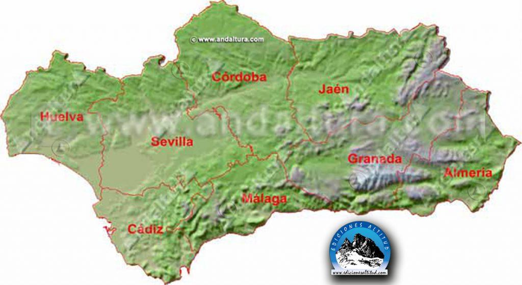 Mapa interactivo de las Provincias de Andalucía de Andaltura