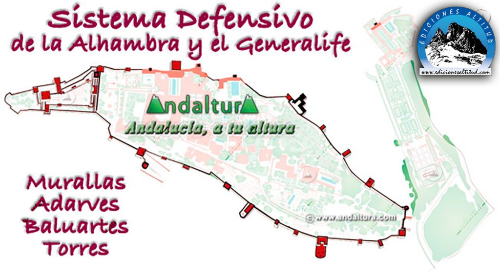 Mapas de las Murallas, Adarves, Baluartes y Torres de la Alhambra