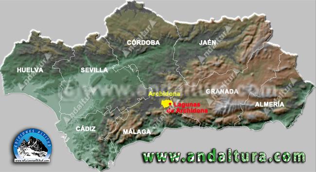 Mapa de la Situación de Archidona y sus Lagunas