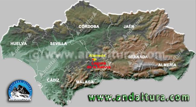 Mapa de la Situación de Alameda y sus Lagunas