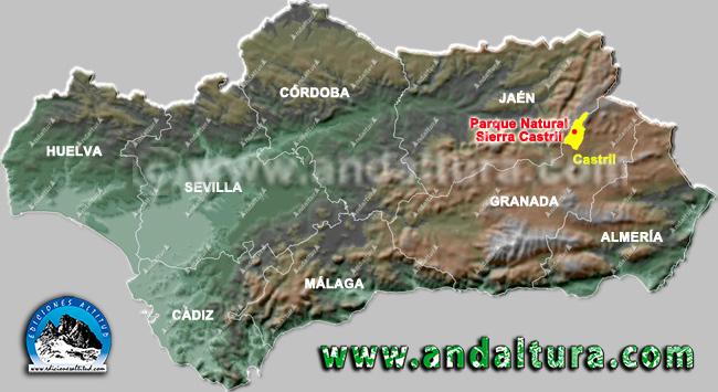 Mapa de la Situación de Castril y de su Sierra