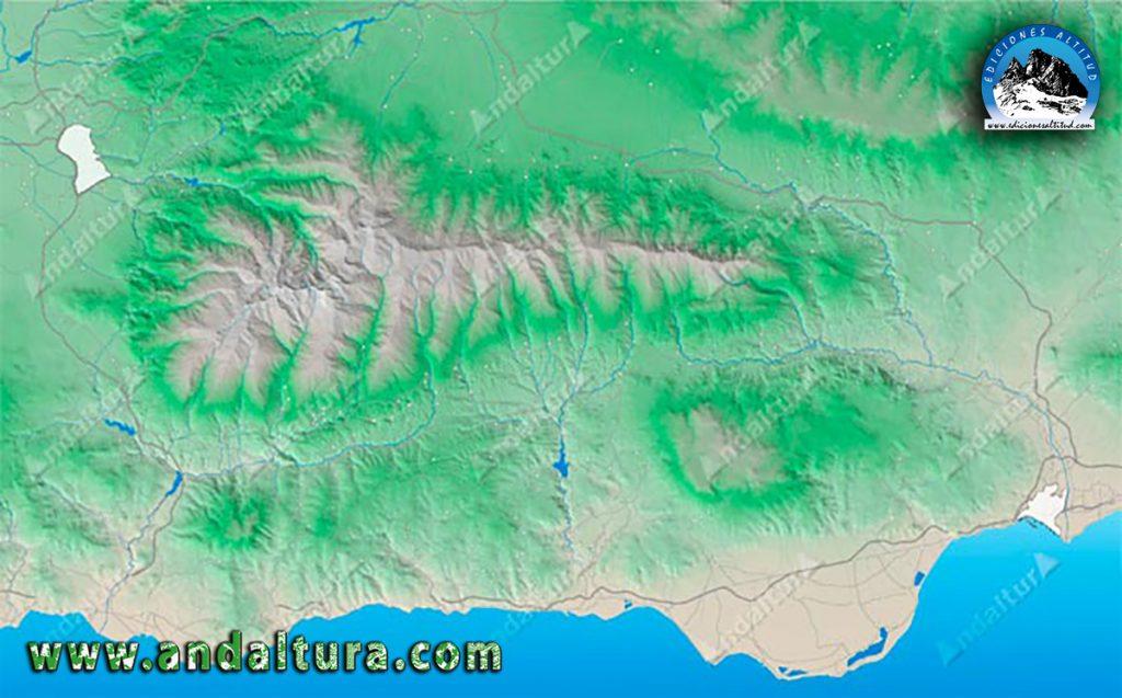 Mapa de Situación de Sierra Nevada