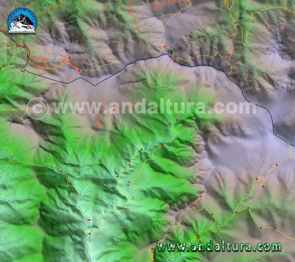 Mapa de rutas de senderismo por la Almijara, Mapa de rutas de BTT por la Almijara