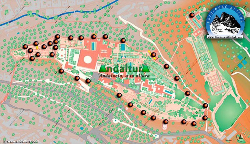 Mapa de las Torres de la Alhambra