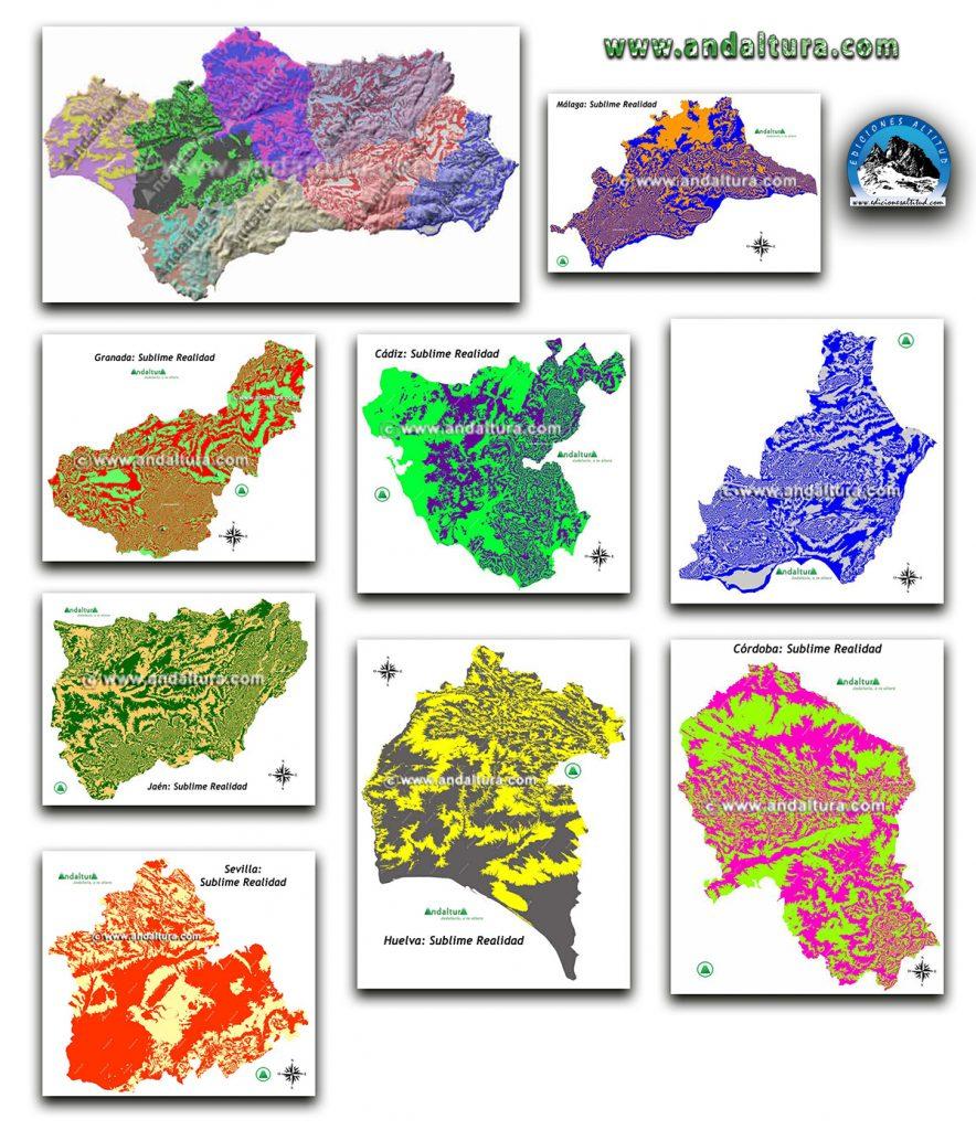 Mapas de Andalucía y de sus Provincias