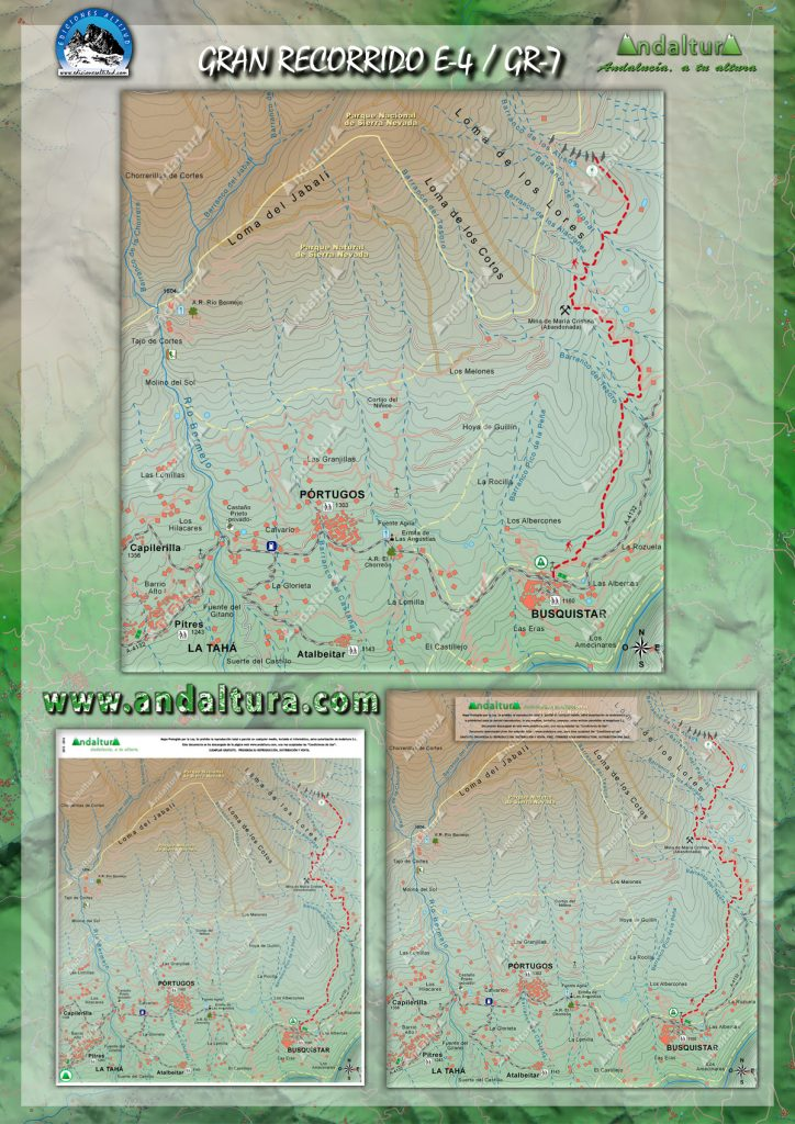 Mapas del Sendero E-4 / GR-7