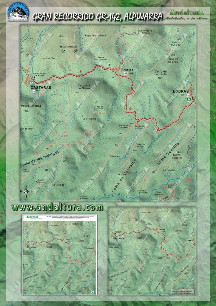 Mapas del GR-142 por la Alpujarra