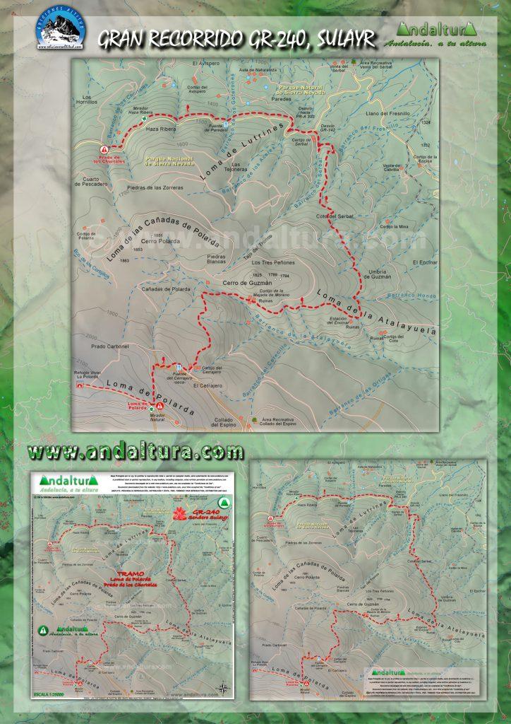 Mapa del Sendero Sulayr, Mapa del Sendero GR240