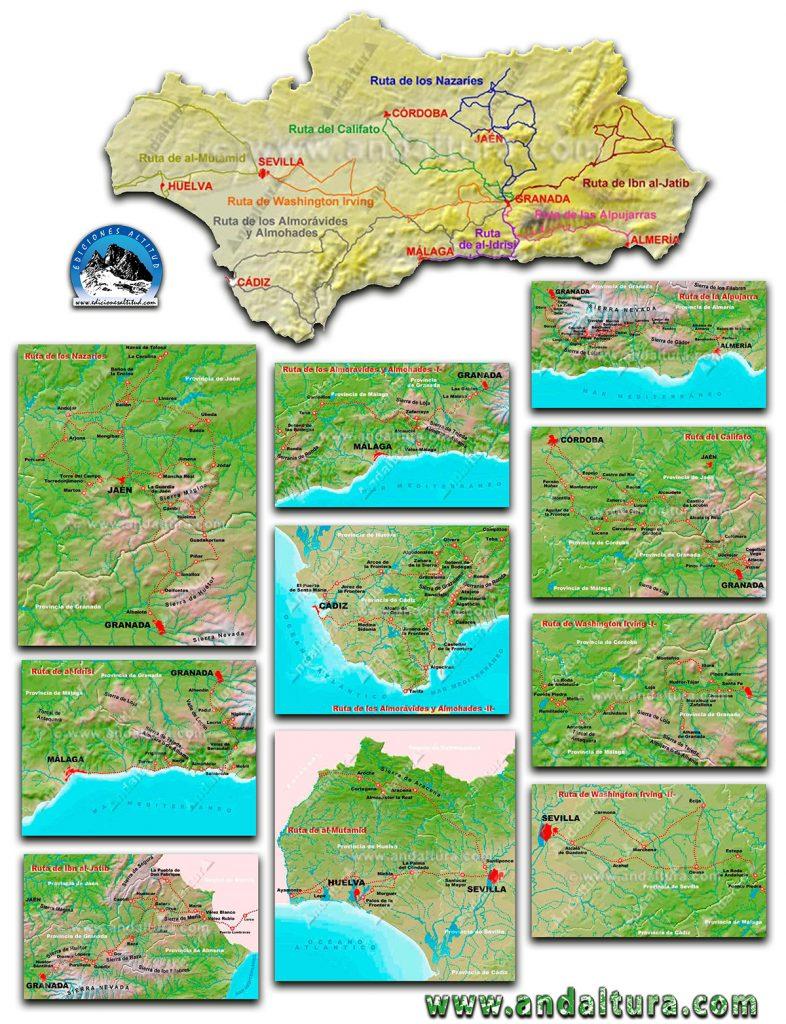 Mapas Rutas Legado Andalusí