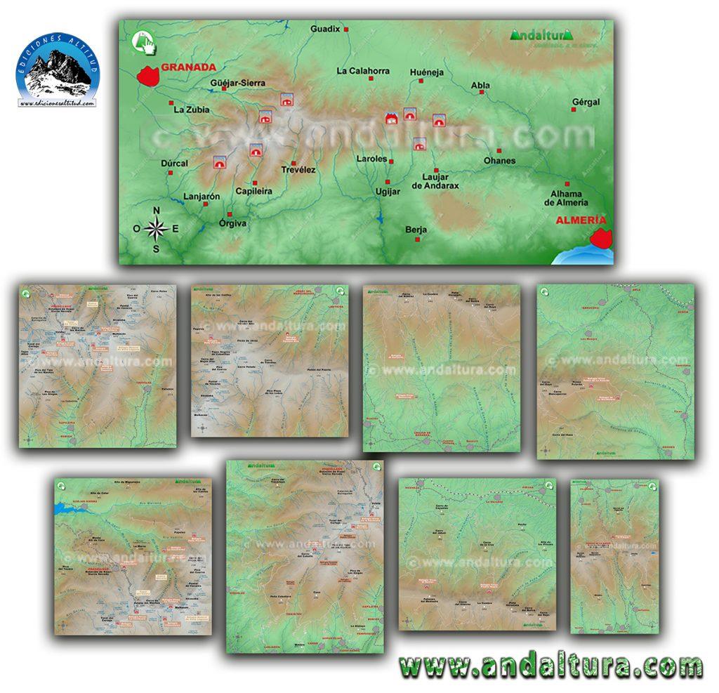 Mapa Refugios de Sierra Nevada