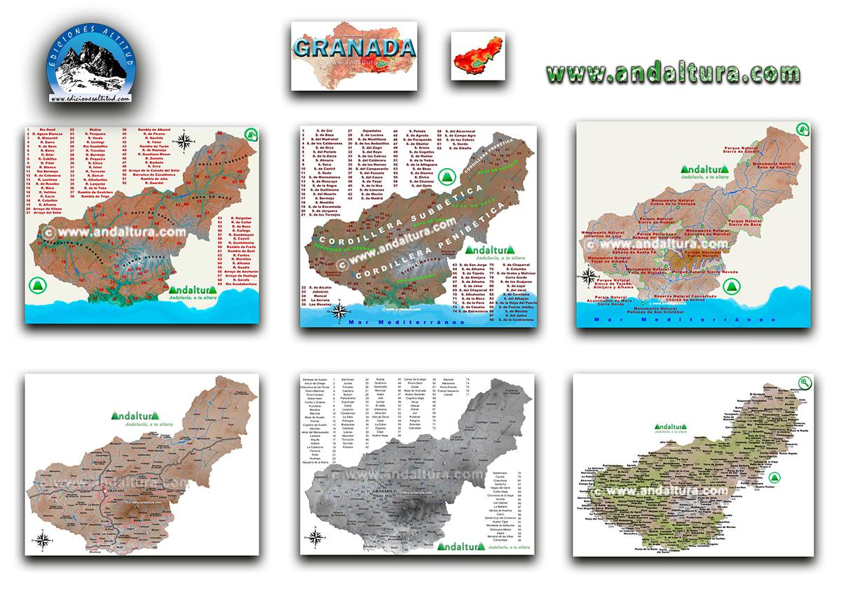 Mapas Interactivos de la provincia de Granada