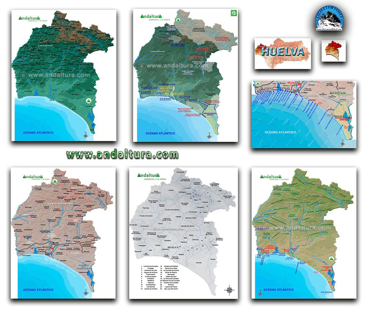 Mapas Interactivos de la provincia de Huelva