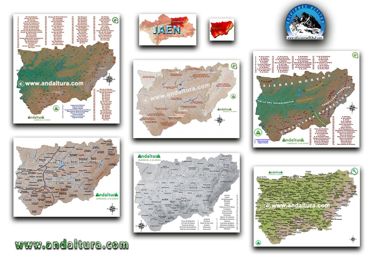 Mapas Interactivos de la provincia de Jaén
