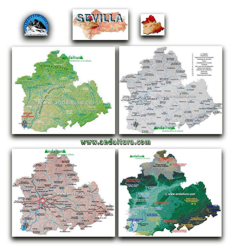 Mapas Interactivos de la provincia de Sevilla