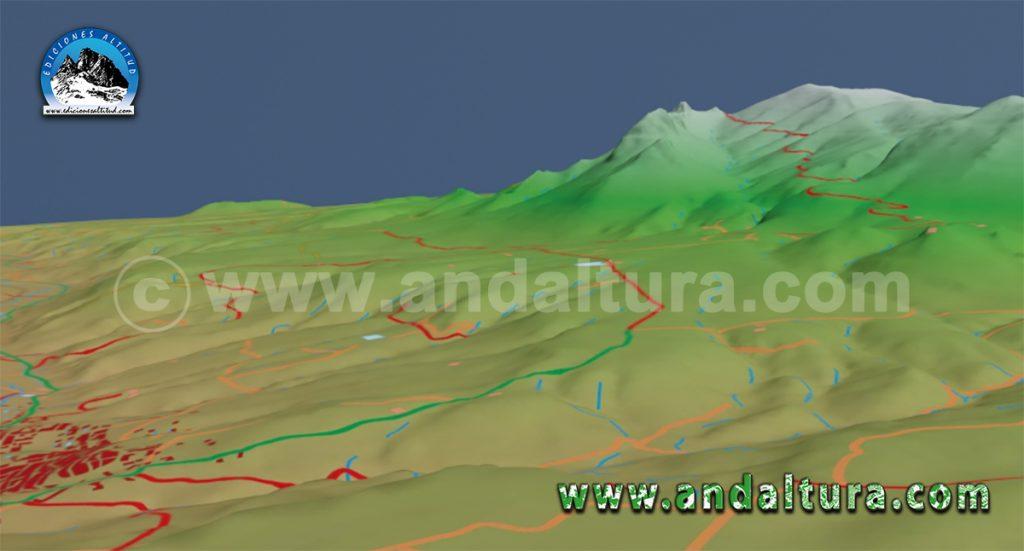 Imagen virtual ruta BTT por la Sierra de Huétor