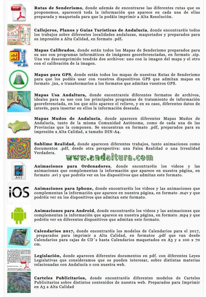 Descarga gratuita de mapas de Andalucía