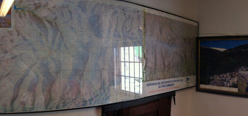 antiguo mapa sierra nevada modificado centro de interpretación de altas cumbres capillera