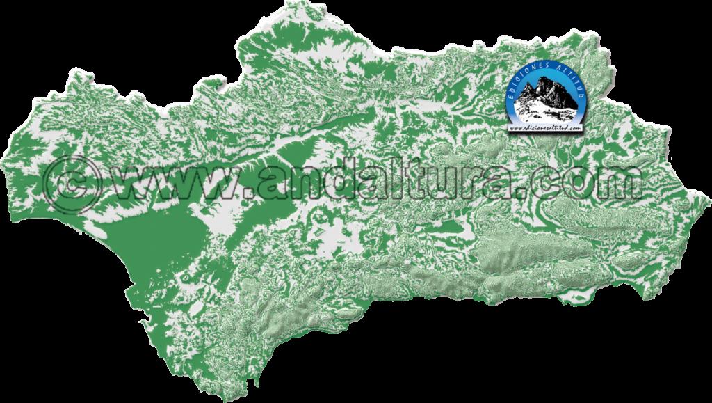 Mapa de Andalucía, Andaltura, Andalucía a tu altura, Ediciones Altitud