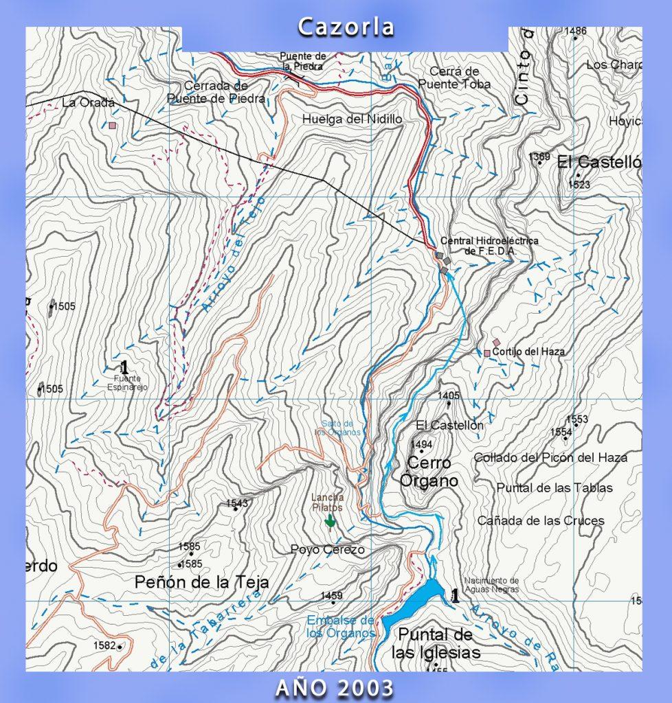 Mapa antiguo de Cazorla