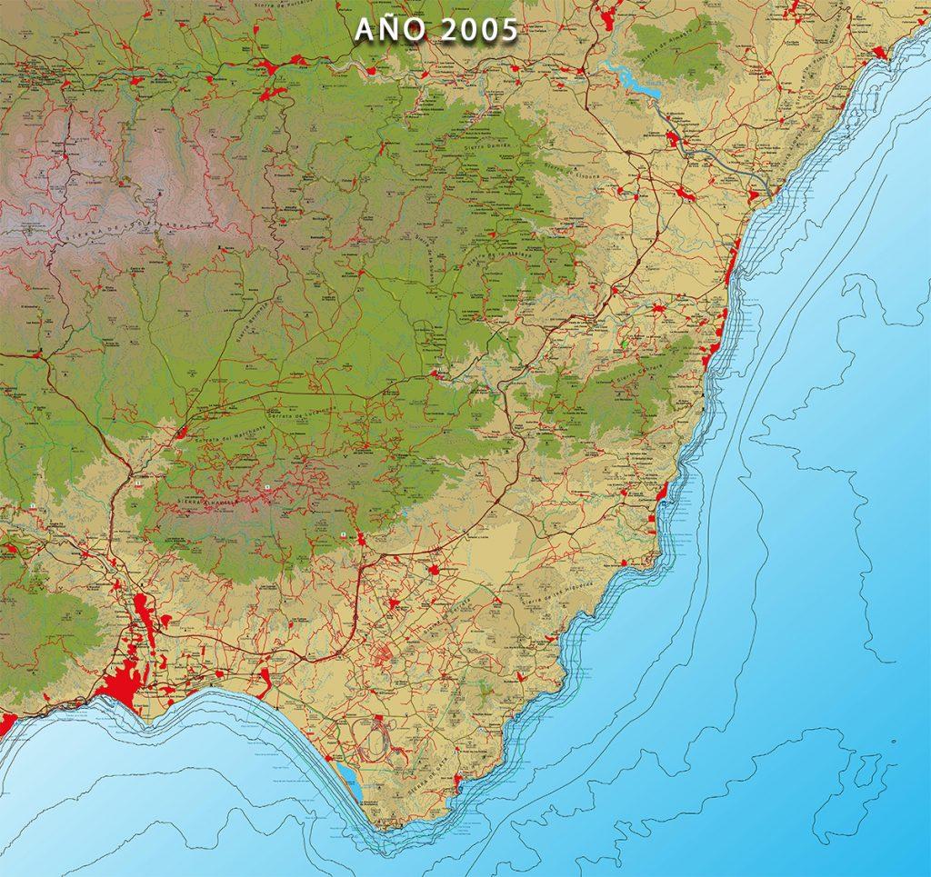 Mapa de la Colección Costa de Andalucía - Almería -