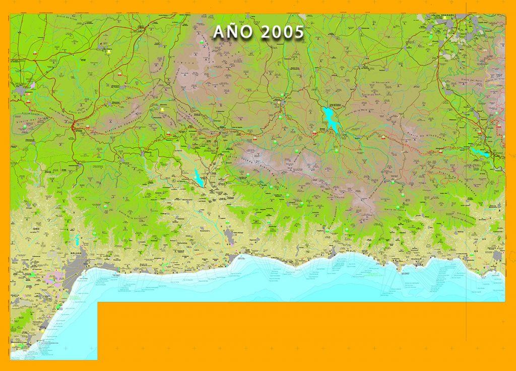 Mapa de la Colección Costa de Andalucía - Málaga -
