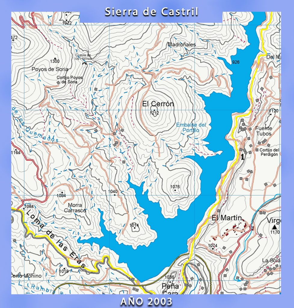 mapa de la Sierra de Castril