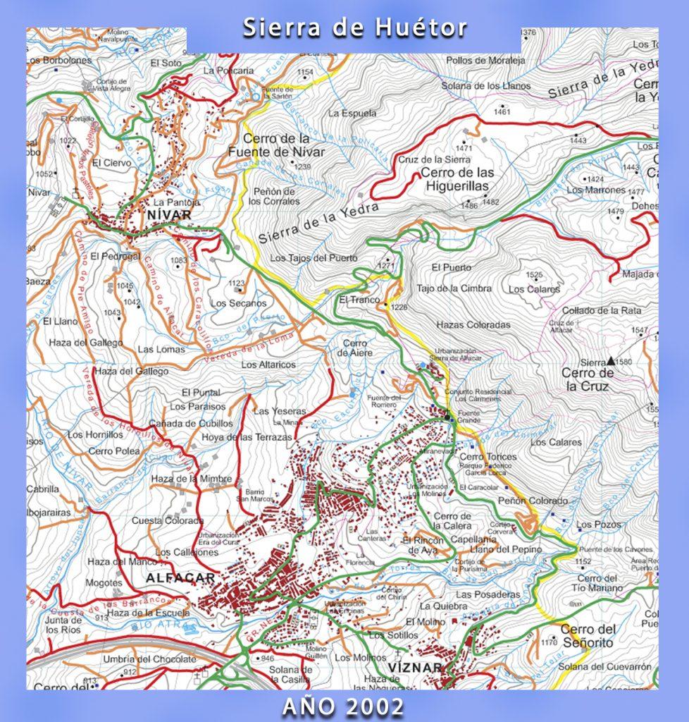Mapa del Parque Natural de la Sierra de Huétor
