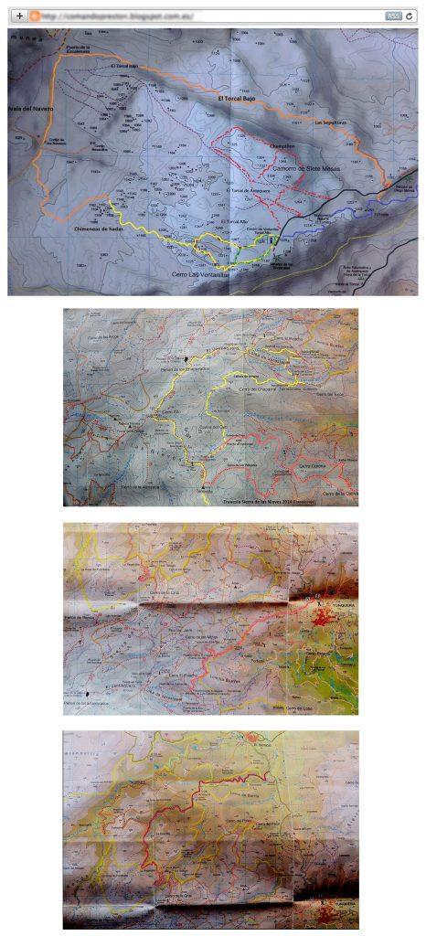 Mapas antiguos copiados en la web del club Comando Preston