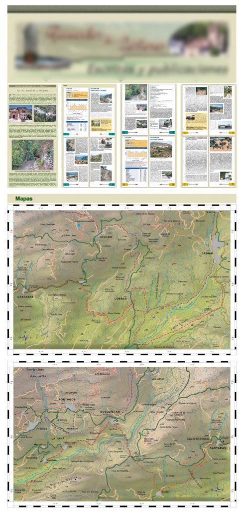 Mapas desactualizados de las etapas del GR142